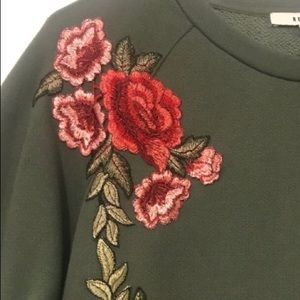 Anthropologie | Ro & De embroidered sweatshirt